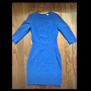 Elegant blue - Office Dress
